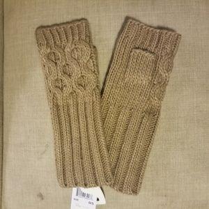 Michael Kors Cable Knit Fingerless Gloves